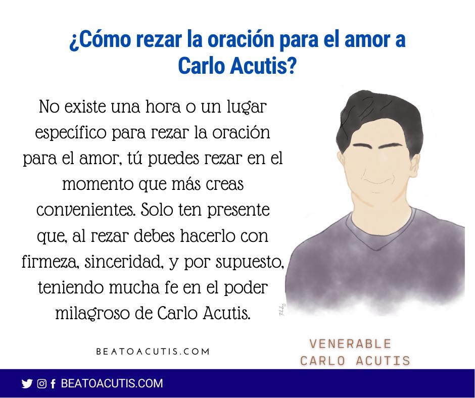 rezar a Carlo Acutis para el amor