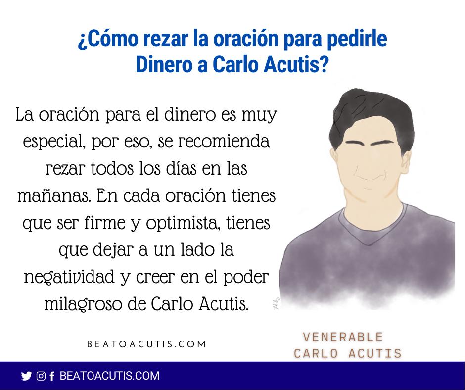 rezar a Carlo Acutis para pedir dinero