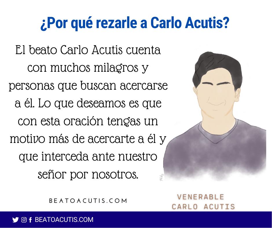 rezar a Carlo Acutis