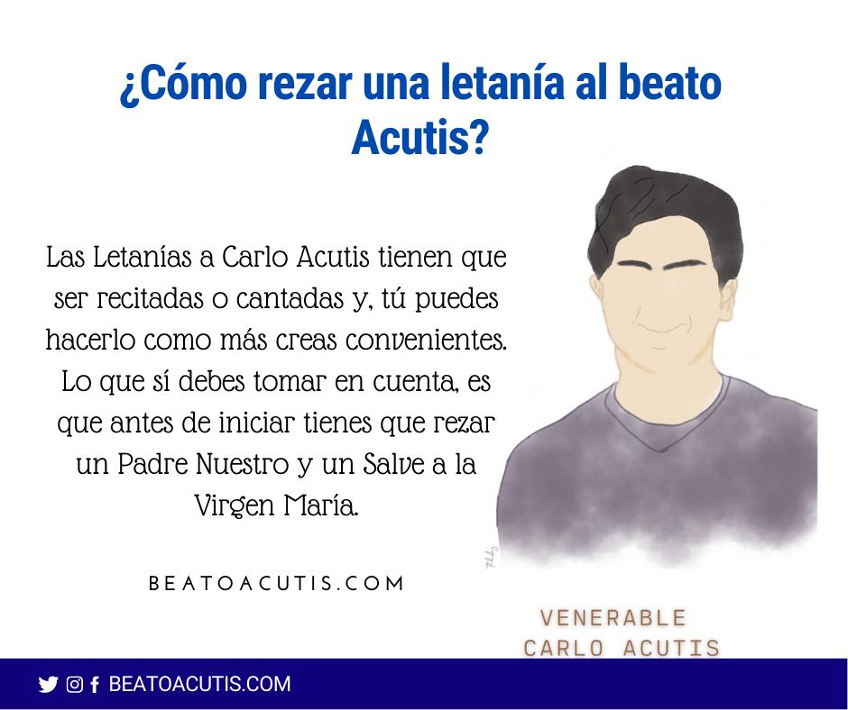 rezar la letanía a Acutis