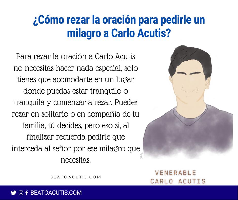 rezar para pedir un milagro a Carlo Acutis