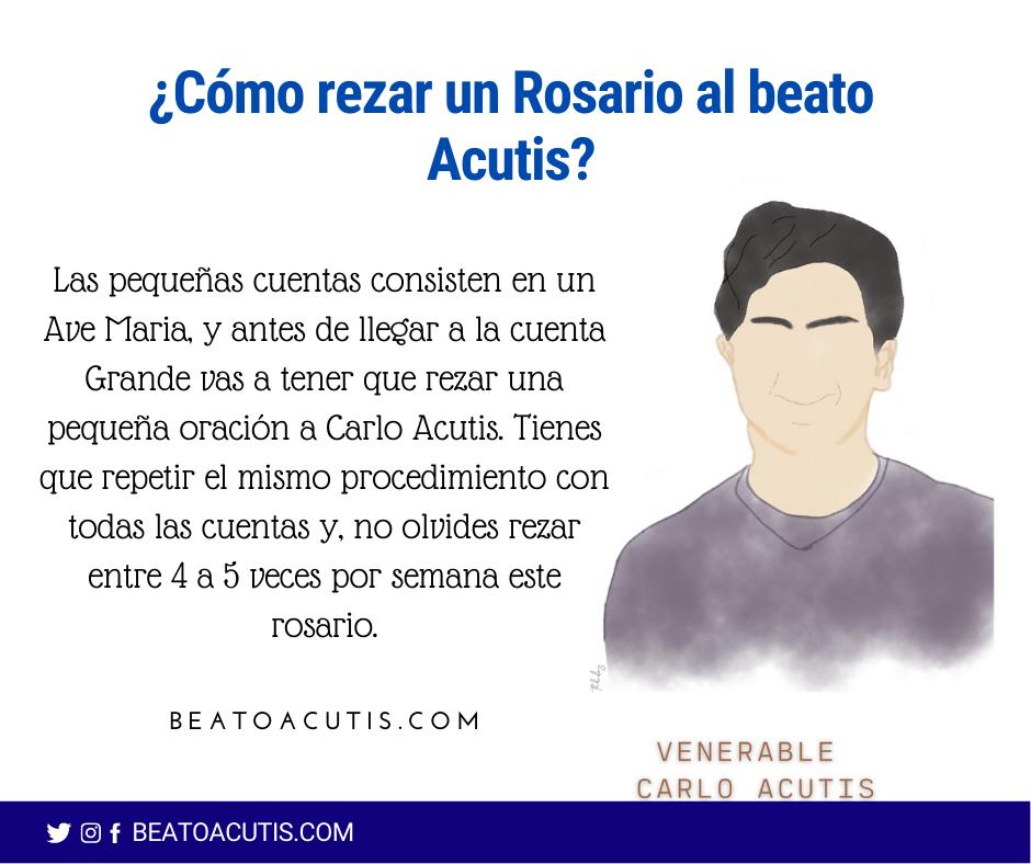 rezar un rosario a Carlo Acutis