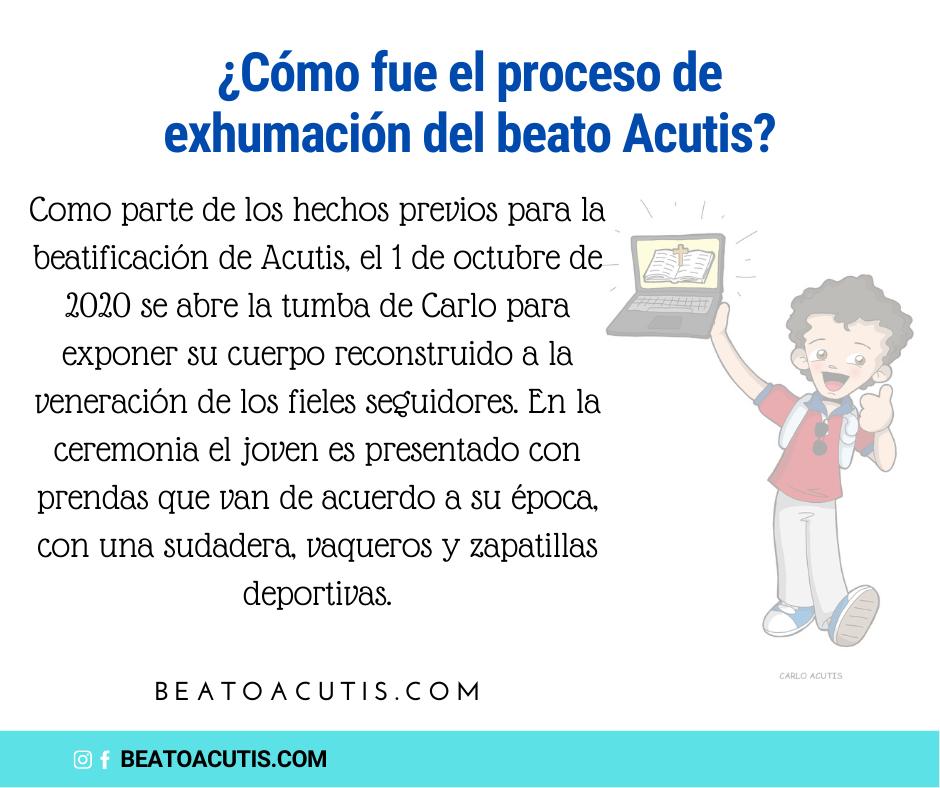 Exhumación del beato Acutis