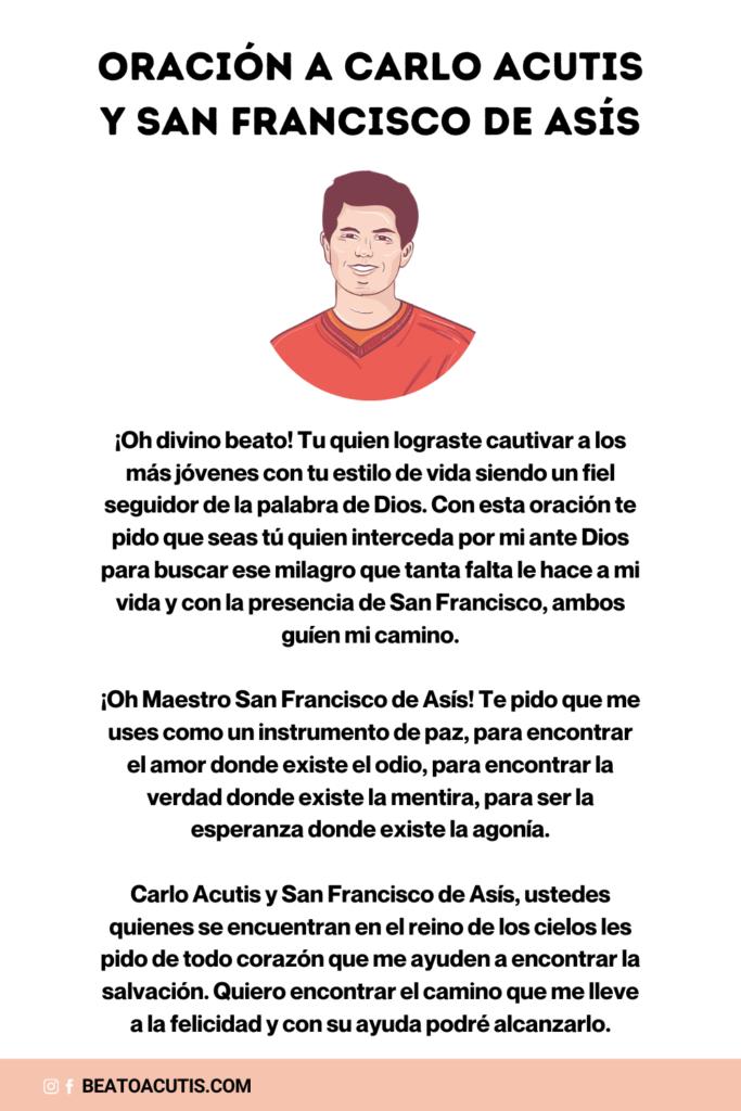 Oración a Carlo Acutis y San Francisco de Asís
