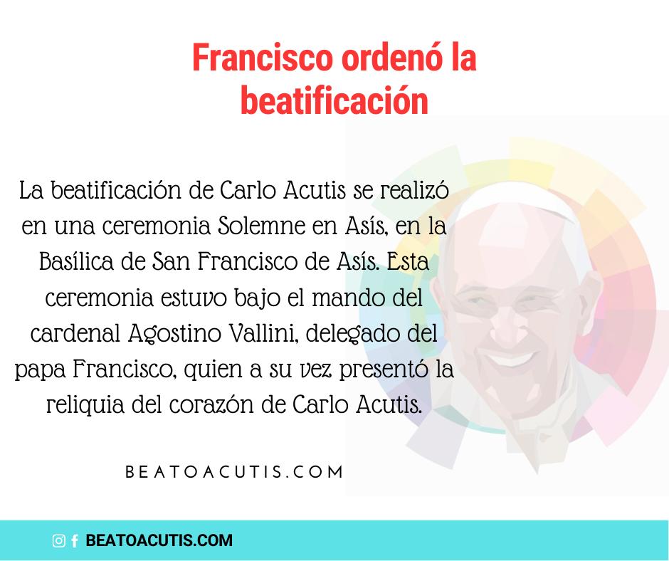 el papa francisco y carlo acutis