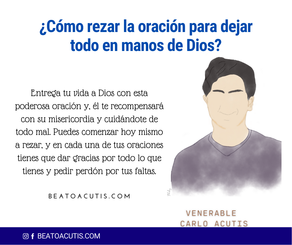 rezar para dejar todo en manos de Dios